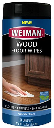 Our #1 Pick is the Weimar Wood Cleaner and Polish Wood Cleaning Wipes