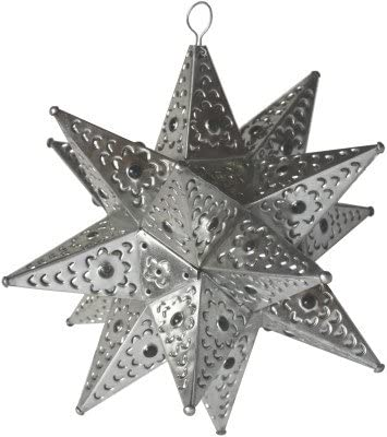 Special sale item Fine Genuine Free Shipping Crafts Imports Medium Star Silver Tin Chandelier