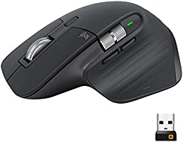 Logitech MX Master 3 Mouse Wireless Avanzato, Business Versione, Ricevitore Bluetooth + USB, Scorrimento ‎rapido, 4000...