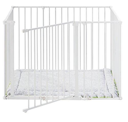 Baby Dan Square Park a Kid/Laufgitter, Weiß: Teil der original dänischen Flex Serie - hergestellt in Dänemark und vom TÜV GS geprüft