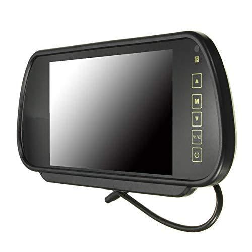 Zimaes Perfectamente Langpioezu 7 Pulgadas TFT LCD Wide Screen Tooshie View Monitor Monitor + Coche Vero Aparcamiento Juego de Vista Trasera Mecánico