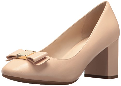 Cole Haan Women's Tali Bow Pump, Nude Leather, 9.5 B US