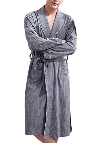 Männer Baumwolle mit Langen Ärmeln Pyjama, Herren-Schlafanzug, Baumwolle...