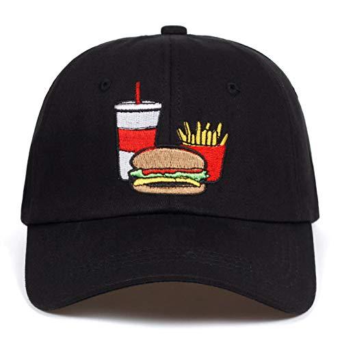 SADUZI Baseballmütze Männer Frauen Cola Fries Burger Papa Hut Baseball Cap Baumwolle Stil Mode Unisex Papa Kappe Hüte Knochen Garros