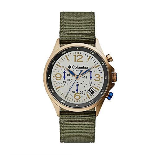 Columbia CSC02-004 Canyon Ridge Edelstahl-Quarz-Uhr mit Nylon-Armband, Grün, 10