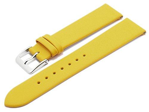 Meyhofer EASY-CLICK Uhrenarmband XS Weser 20mm gelb Leder glatt ohne Naht My2gfml4001
