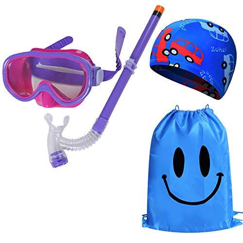 TQBT Tauchmaske Schnorchelmaske Tauchmaske Schnorchelanzug Atemmaske Unisex Kinder Unterwasser Anti-Fog Vollgesichtsschutz wasserdicht