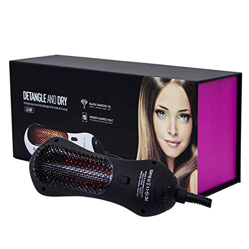 Liujie Infrarood heteluchtkam, föhn en styler, negatieve One Styler, 2-in-1 heteluchtborstel met stijltang voor alle haartypes