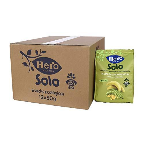 Hero Solo - Snacks de Guisantes y Maíz, No Fritos y sin Sal