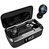 Wireless Earbuds, Bluetooth 5.2 True Wireless Earphones with Rechargeable Case, 60H Playtime Noise Cancelling Stereo in-Ear Headphones, Waterproof Touch Control Headset with Built-in Mic for Sport