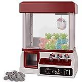 COSTWAY Candy Grabber mit Musik | Süßigkeitenautomat mit Spielmünze | Greifautomat Spielzeug...