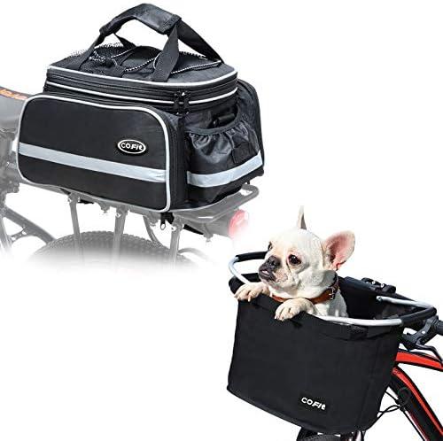 COFIT Collapsible Bike Basket Basic Black Max 79% OFF Trunk Bag Financial sales sale