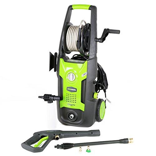 Greenworks GPW1702 1,700-Psi Vertical Pressure Washer w/Hose Reel - 5100402