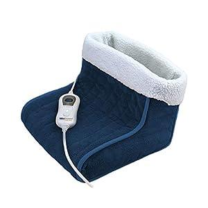 NEWSUMIT Calientapies – Calentador de pies botas - tacto suave - Alivio del dolor - 3 Niveles de Temperatura - Calor Rápido - Protección Apagado Auto 90min.