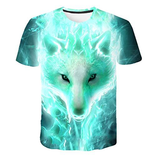 Wolf 3D Print Cool T-Shirt Boys Girls Fashion Eagle 3D Hip Hop Tshirt Print Animal Short Sleeve Summer T Shirt 2705 6 ANS
