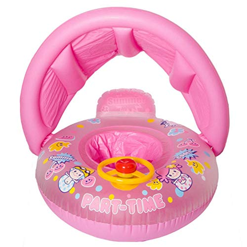 Baby Sonnenschutz Schwimmbecken Float Boat Trainer Sitz Verdickung Cartoon Kinder Aufblasbare Ring Für Schwimmboote Lenkrad Baby Sitz Ring Für Alter 1-3 Kleinkind Kinder