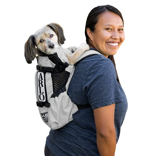 K9 Sport Sack | Dog Carrier Adjustable Backpack (Small, Air - Charcoal Grey)