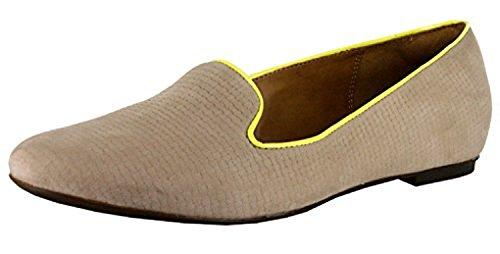 CLARKS Women's Valley Lounge Tan Nubuck Loafer 5.5 B - Medium