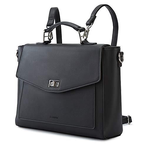 ECOSUSI Satchel Handbags Women Convertible Backpack Tote PU Leather Shoulder Bag