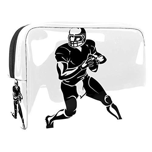 Kulturtasche Rugby Spieler Kulturbeutel für Damen Herren Kinder Bunt Kosmetiktasche Waschtasche für Männer Frauen Waschbeutel in Premium-Qualität 18.5x7.5x13cm