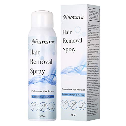 Haarentfernungsspray, Haarentfernungscreme, Enthaarungsmittel, Haarentfernungsschaum, Hair Erase Schmerzlose, Mild Formula, Enthaarungsmousse, geeignet für Männer und Frauen, 100 ml