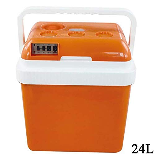 Wangt Elektrische campingkoelkast, 12 V/240 V, 24 l, koelbox, warm, koud, draagbaar, voor caravans, camping