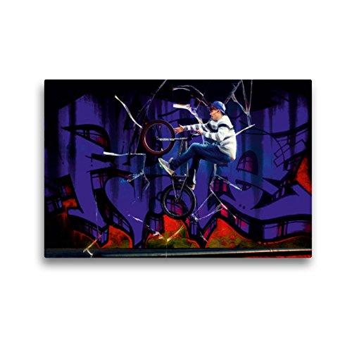 CALVENDO Premium Textil-Leinwand 45 x 30 cm Quer-Format BMX My Life Glas, Leinwanddruck von Dirk Meutzner