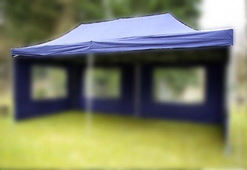 Nexos Pavillondach Ersatzdach Wechseldach für Profi Falt-Pavillon 3x6m - Dachplane 270g/m² PVC-Coating versiegelte Nähte wasserdicht – Farbe: blau