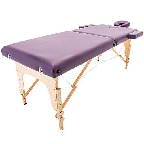 RTYUIO Mesa de Masaje Profesional de Altura Ajustable, 2 Secciones, Plegable, Ligero, Cama portátil, sofá, Terapia de Belleza, Tratamiento de SPA