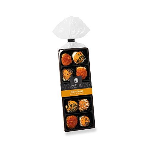 Peters Gebäck Käse-Fours 2er Set - gefüllt mit Käse-Paprika-Creme & Käse-Basilikum-Oregano-Creme (170g)