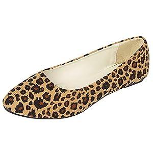 YWLINK Zapatos Planos Mujer Moda Leopardo TamañO Grande Zapatos Casuales De Boca Baja Trabajo Zapatos Solos CóModo Mocasines Viajes Zapatillas De Deporte Senderismo Ciclismo Regalo(marrón,36EU)
