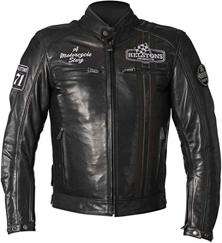 Helstons Indy Motorrad Lederjacke Schwarz XL