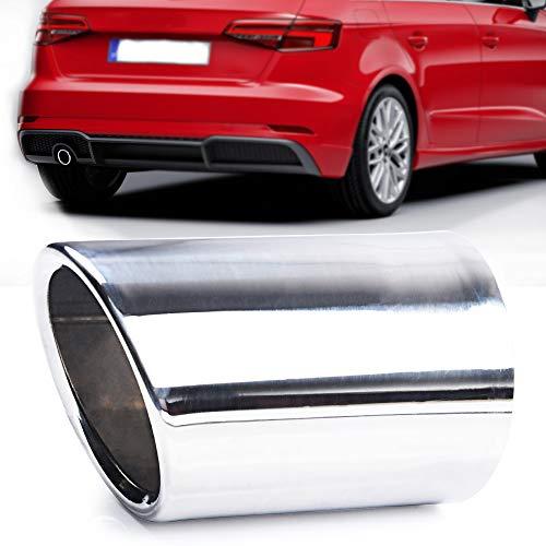 Auspuffblende für A3 8P, A3 8V, Polo 6R, Golf 6 1.6 TDI, Golf 7 - OTUAYAUTO Edelstahl Spiegel Poliert Chrom Endrohre