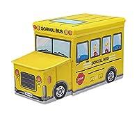 (折り畳み式) おもちゃの自動車整理箱 玩具ボックス 収納バスチェア Baby Toy Box 並行輸入