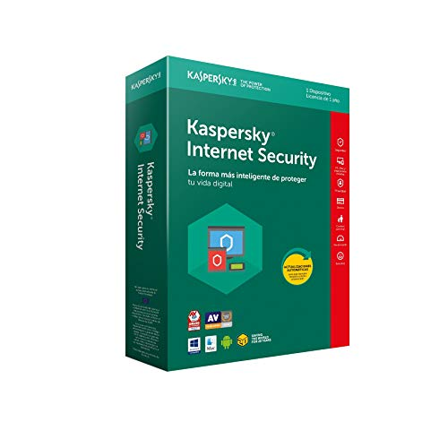 SOFTWARE ANTIVIRUS KASPERSKY 2018 INTERNET SECURITY MULTIDEVICE 1 LICENCIAS
