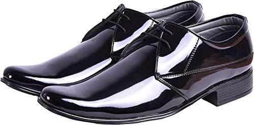 SECRET CLOSET Men's AS Black Shining Formal Shoes (8)