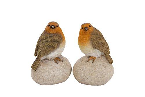 London Ornaments Set of 2 Robins on Stones