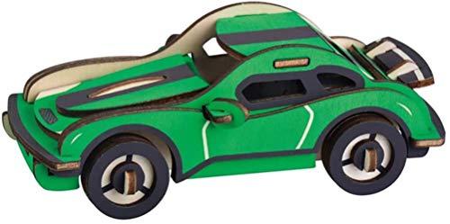 GXT Rompecabezas del Juguete de Madera del Rompecabezas 3D Tridimensional Modelo de Juguete del Bloque Hueco Aviones Montado Boy Coche...
