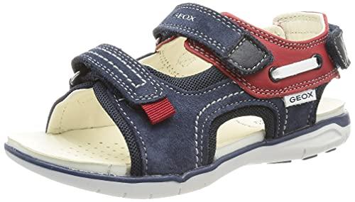 Geox Baby-Jungen B Delhi Boy A Sport Sandal, Navy/RED, 21 EU