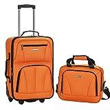 ROCKLAND Luggage 2-Piece Set, Orange, One Size