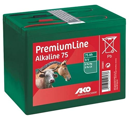 Kerbl AKO Batterie Alkaline 9 V, 75 Ah