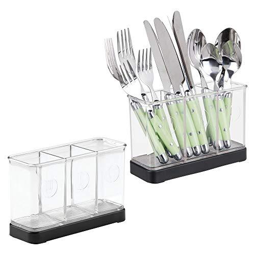 mDesign - Organizador de utensilios y cubiertos, para mesada de la cocina;...