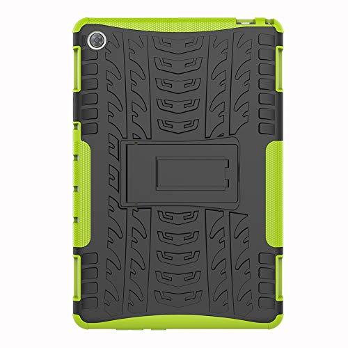 SHIEID Hülle für Huawei MediaPad M5 Lite (10 Inch)-Hülle Tough Hybrid Armor Hülle,Diese Handyhülle Anti-Wrestling Travel Essential Faltbare Halterung für Huawei MediaPad M5 Lite (10 Inch)(Grün)