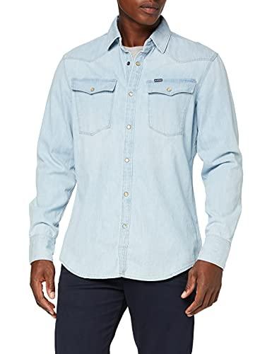 G-STAR RAW Herren Jeanshemd 3301 Slim Shirt, Blau (Lt. 424), X-Large