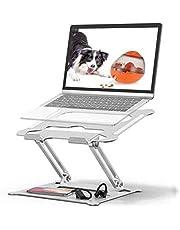 BOBOH Laptop Stand, Draagbare Laptop Stand Verstelbare Multi-Hoek Laptop Houder met Warmte-Vent om Aluminium Laptop Stand Compatibel voor Notebook/PC/MacBook/MacBook Pro Alle Laptop 11-17 inch