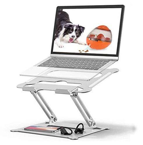 Tokmali Supporto PC Portatile, Supporto Laptop Angolazione Regolabile Pieghevole Ventilato Supporto Computer Portatile Compatibile per Notebook PC MacBook MacBook PRO Tablet dell Laptop 10-17 Pollici