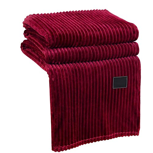 Cxssxling - Manta de forro polar de franela para sofá de 4 estaciones (100 x 120 cm), color rojo