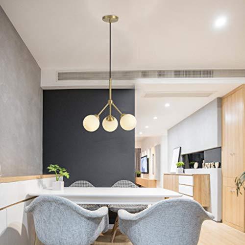 Kleine moderne minimalistische hanglamp in Scandinavische stijl, lichte luxe koperen koperen koperen koper, mooie prachtige decoratieve lampen, A