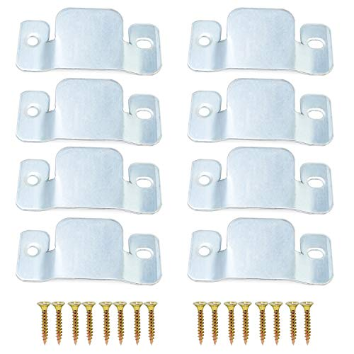 HSEAMALL 8PCS Metall Sectional Sofa Interlocking Connector Clips Standard Flush Mounts Universal Furniture Connector Bracket mit Schrauben