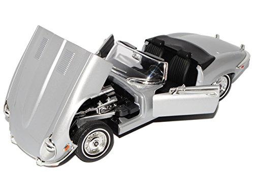Jaguar E-Type Cabrio Silber 1971 1/18 Yatming Modellauto Modell Auto